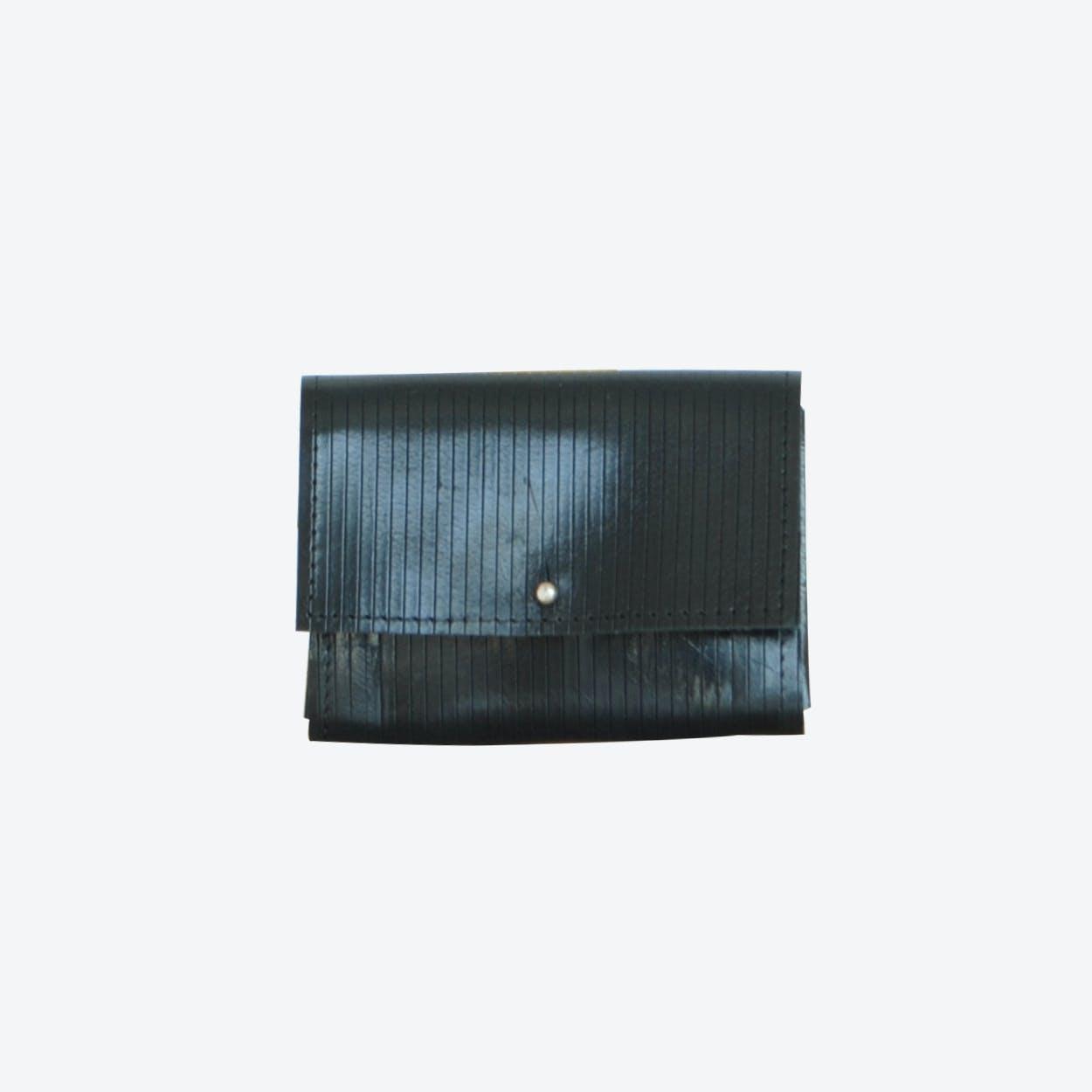 Mini Wallet in Striped Navy