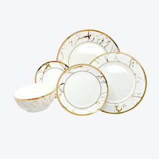 The Bruno Legacy Tableware Collection - White - Set of 5