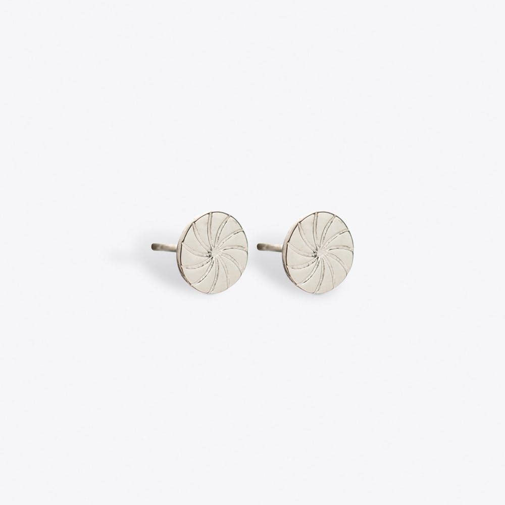 Circle Earrings in Silver