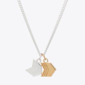 Double Arrow Charm Necklace