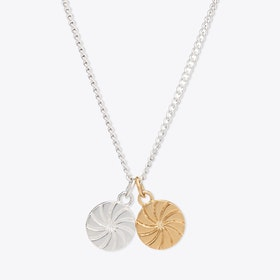 Double Circle Charm Necklace