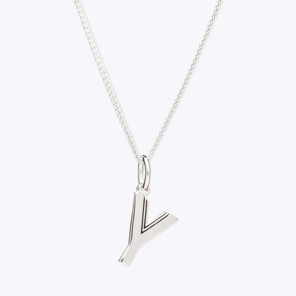 Y Initial Necklace