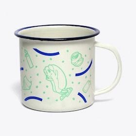 Hot Doggin' Enamel Mug