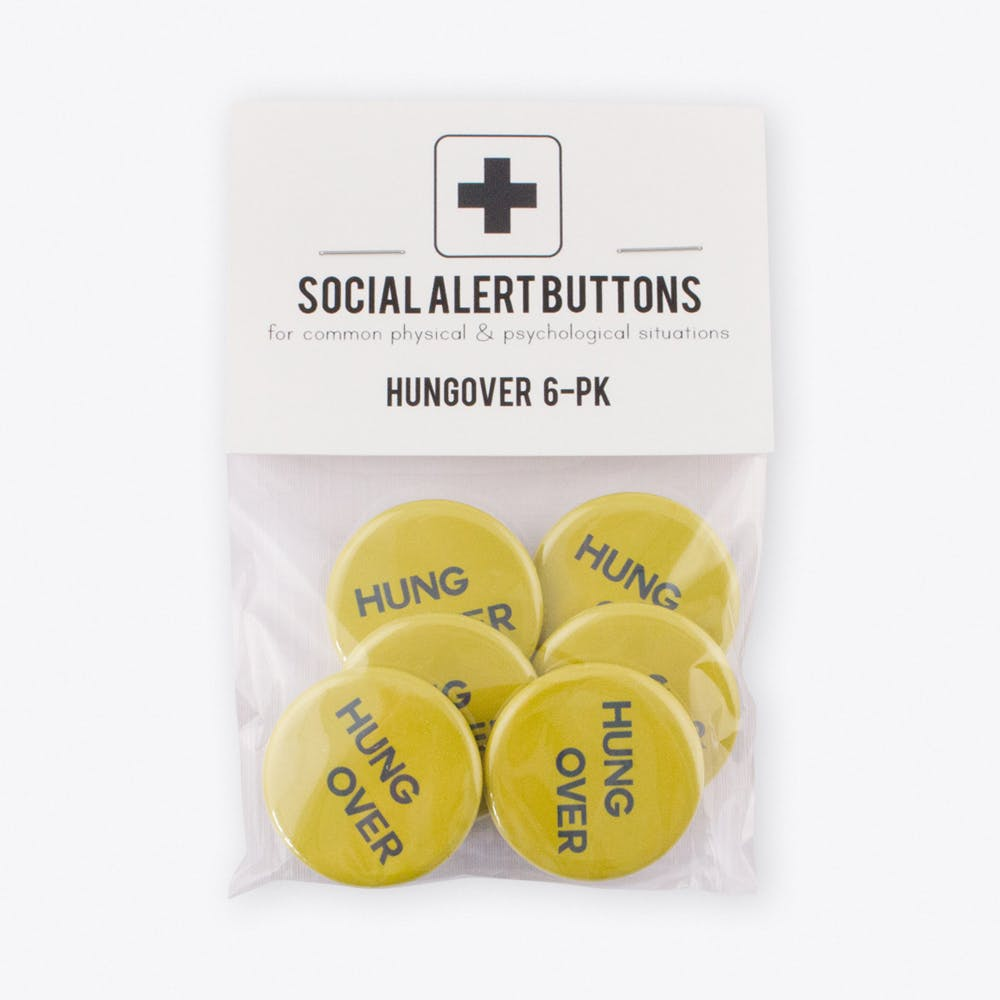 Hungover Badge Set