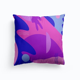 Vibrant Abstract Pattern Canvas Cushion