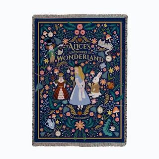 Alice in Wonderland Woven Throw