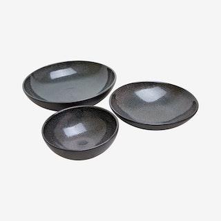 Zaghwan Bowl Set - Old Silver - Set of 3