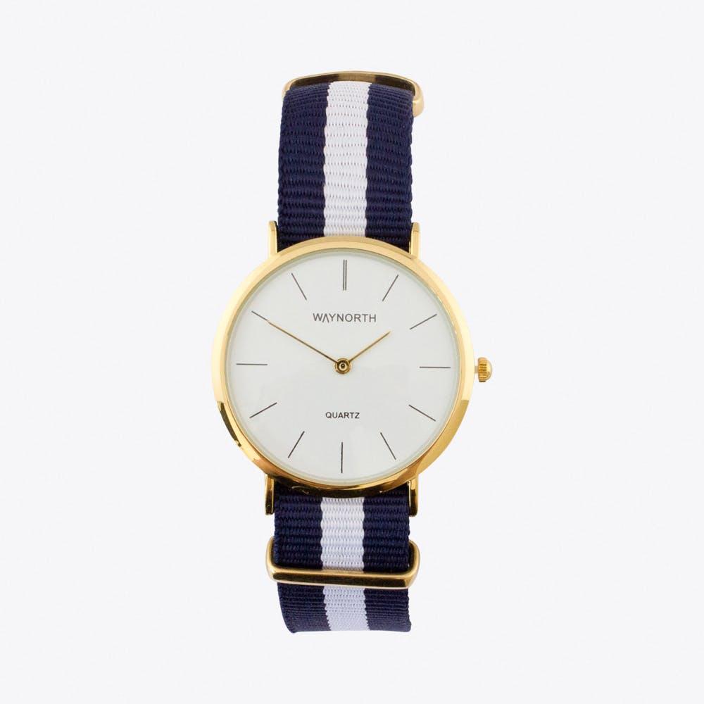 Navy/White Watch