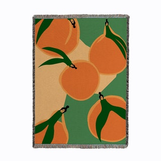 Orange Float Woven Throw