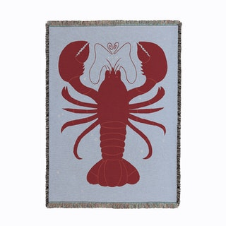 Lobster Woven Throw