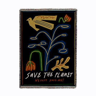 Save The Planet Woven Throw