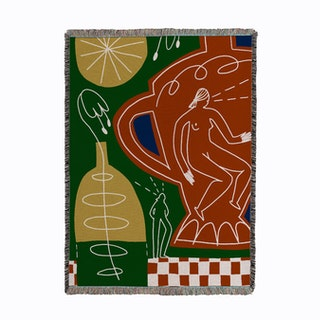 Whimsical Person Woven Throw