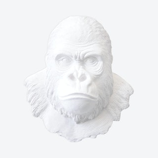 Faux Gorilla Mount - White