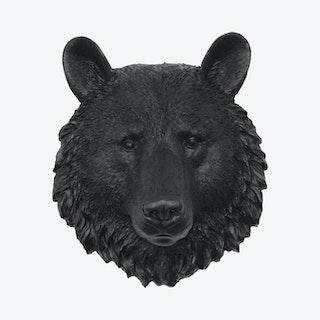 Mini Faux Bear Mount - Black