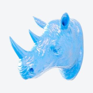 Faux Rhino Wall Mount - Brilliant Blue