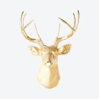 Faux Deer Mount - Gold