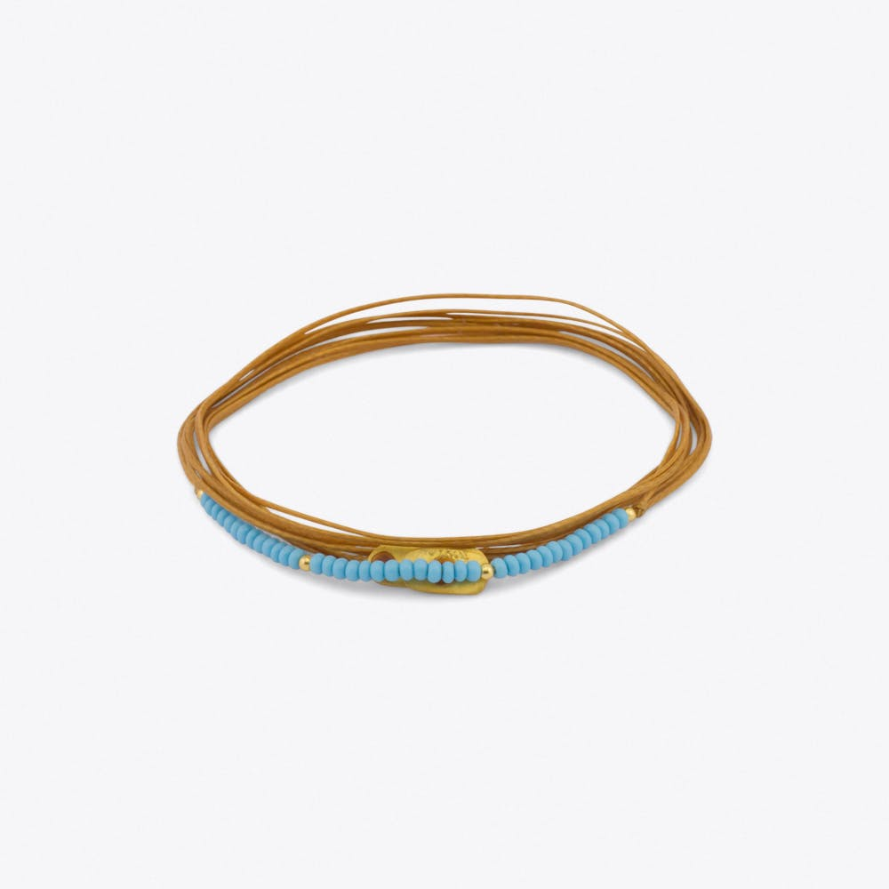 Cordella Bracelet in Nude & Light Blue