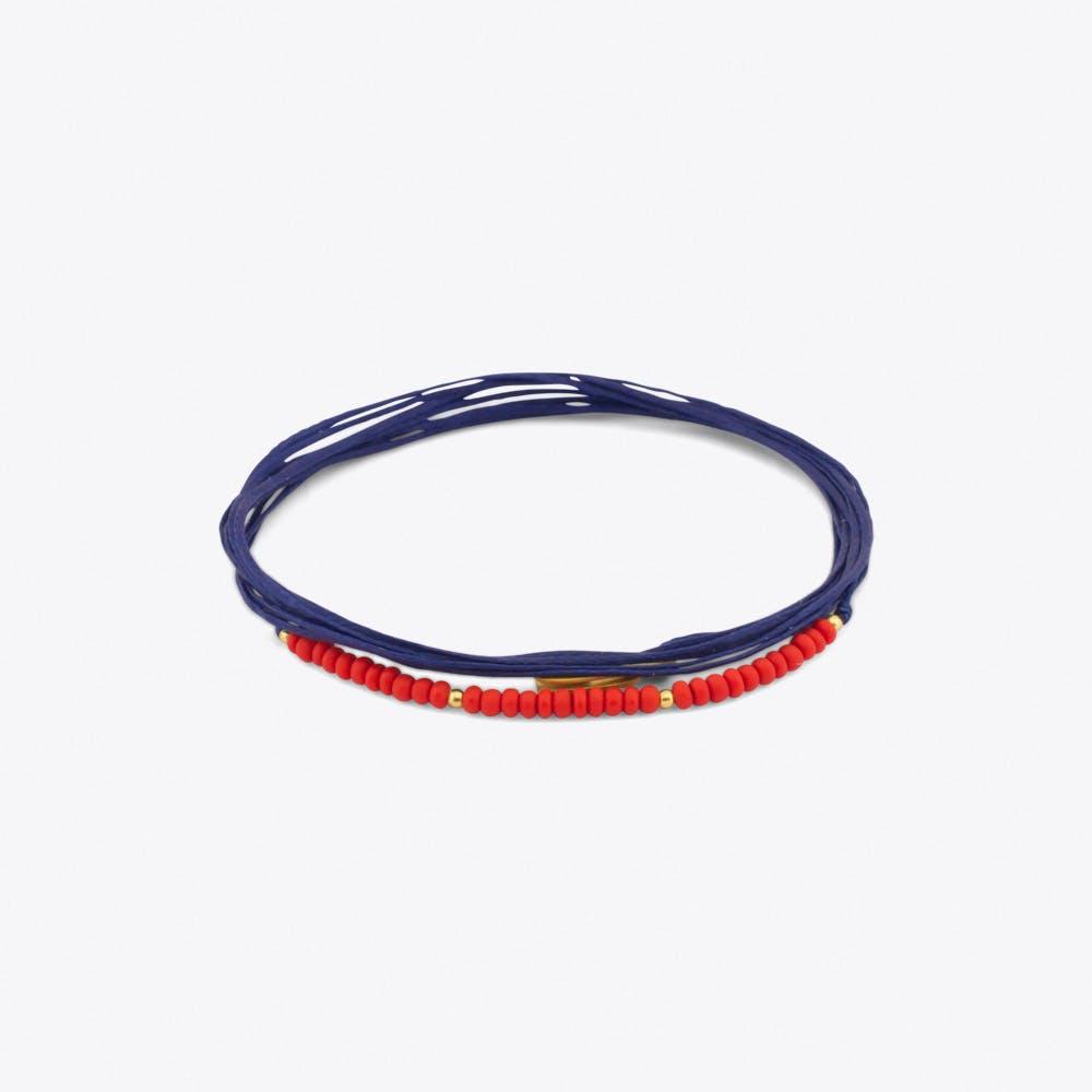 Cordella Bracelet in Blue & Red