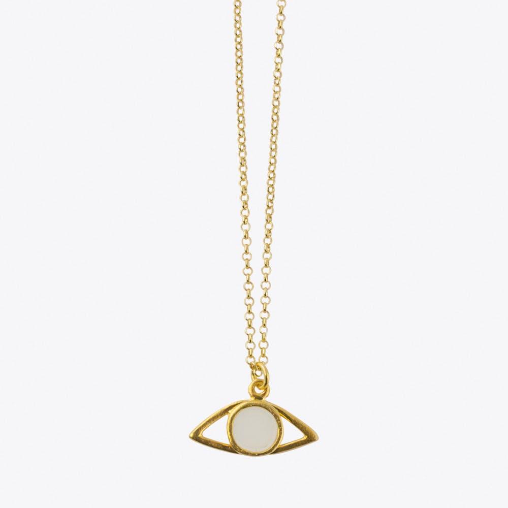 Mati Necklace in White