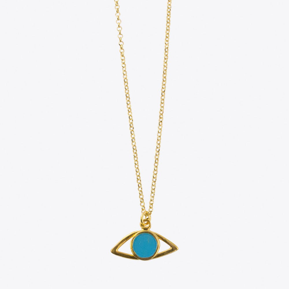 Mati Necklace in Light Blue