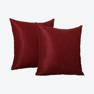 Honey Square Throw Pillow Covers - Claret Red - Set of 2