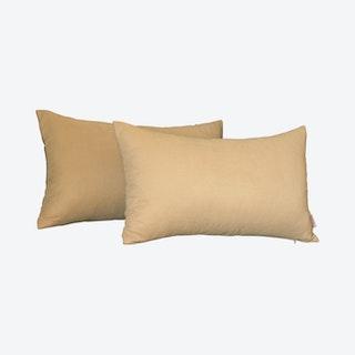 Honey Lumbar Throw Pillow Covers - Light Beige - Set of 2