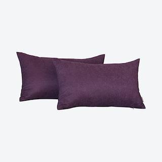 Honey Decorative Lumbar Throw Pillow Covers - Purple - Set of 2