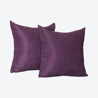 Honey Square Throw Pillow Covers - Purple - Set of 2