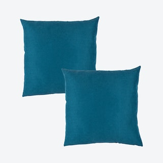Honey Square Throw Pillow Covers - Tahitian Tide - Set of 2