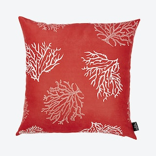 Nautica Reef Square Throw Pillow Cover - Red