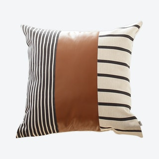 Geometric Square Decorative Throw Pillow Cover - Brown