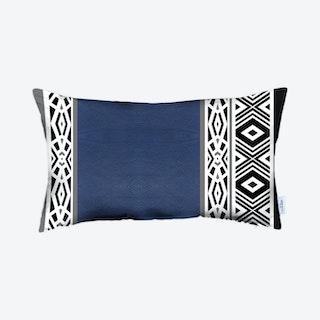 Boho Decorative Lumbar Throw Pillow Cover - Navy