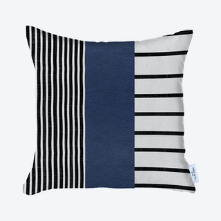 Geometric Square Decorative Throw Pillow Cover - Navy