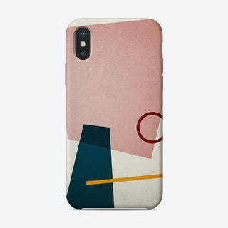Conceptual Abstract Shapes Pink And Blue Phone Case