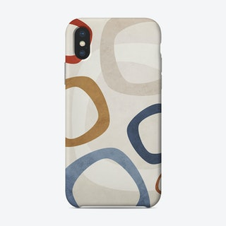Colorful Marbled Circles Phone Case