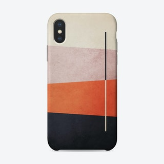 Colorful Shapes Orange And Pink Phone Case