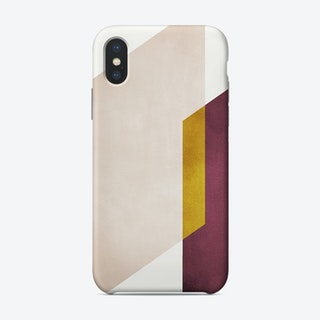 Intersection Of Shapes Marsala And Yellow Phone Case