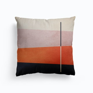 Colorful Shapes Orange And Pink Canvas Cushion