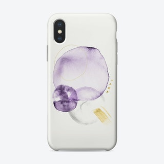 Turns In Violet Grey And Gold Phone Case
