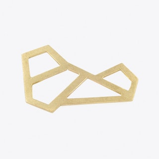 Metriq Brooch II in Brass