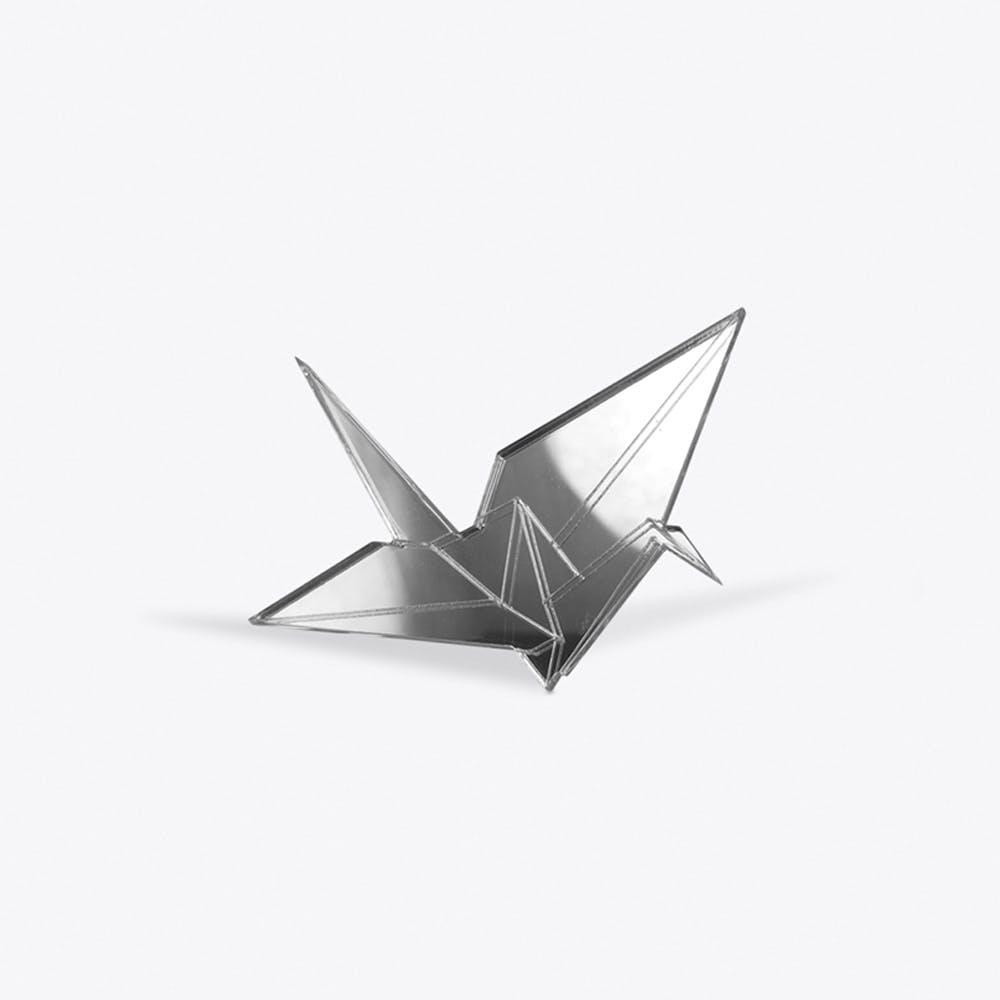 Crane Brooch in Silver
