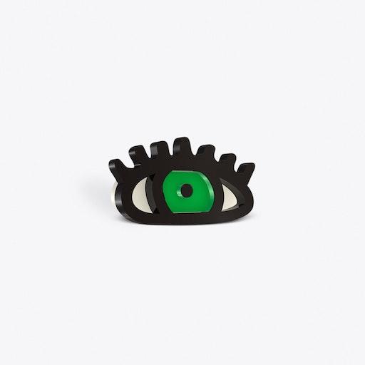 Green Eye Brooch