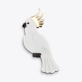 Cockatoo Brooch