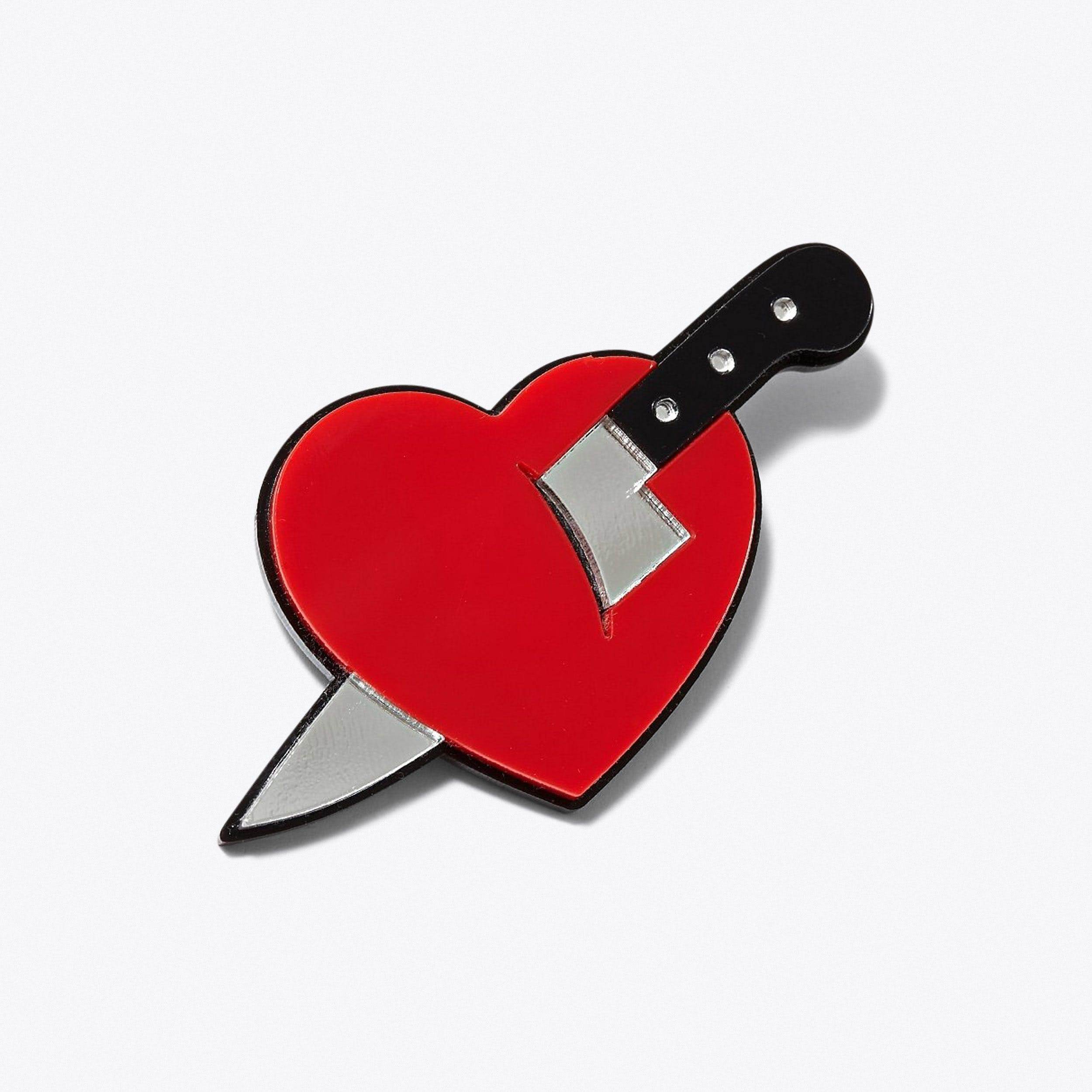 Knife In The Heart Brooch