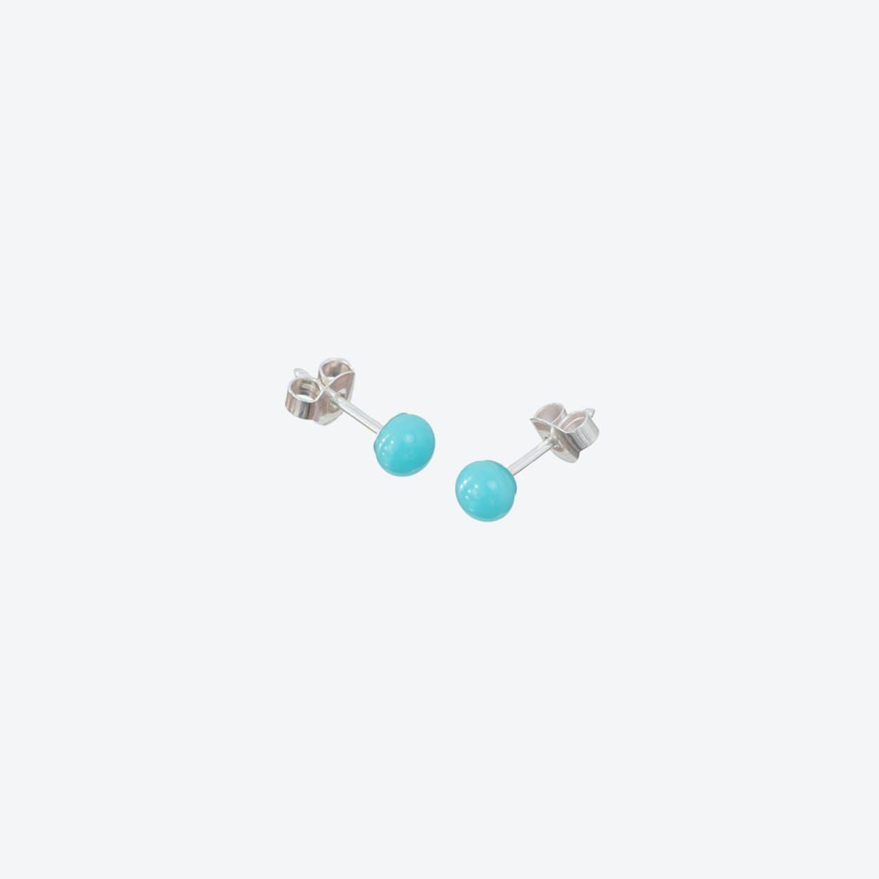 Pin Earrings in Baby Blue