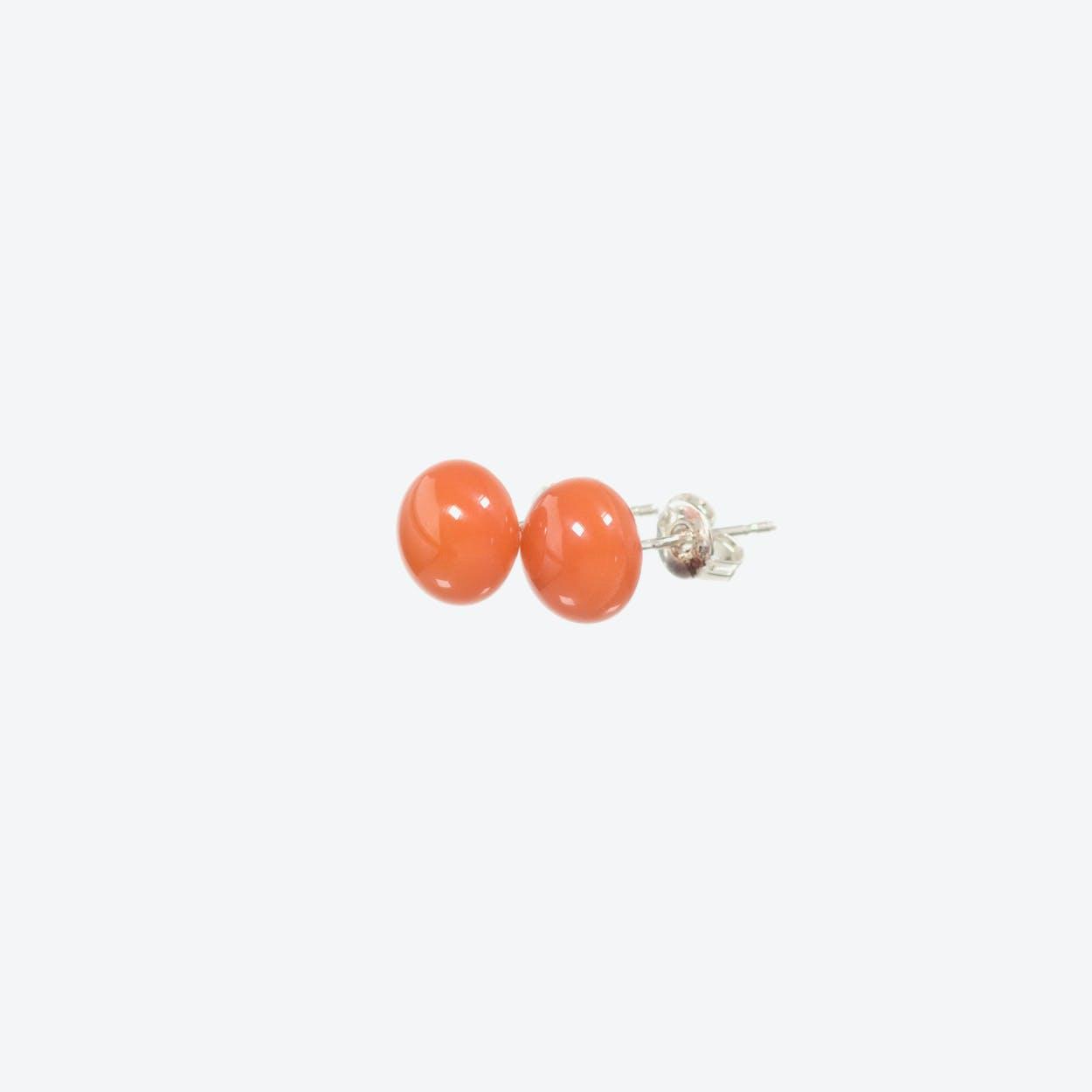Confetti Earrings in Salmon Pink