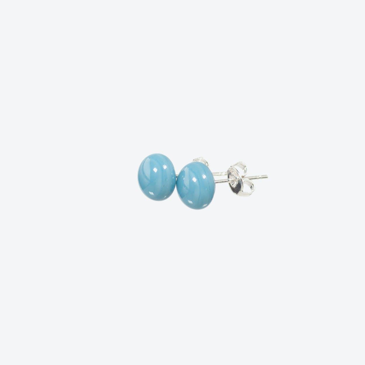 Confetti Earrings in Dusty Blue