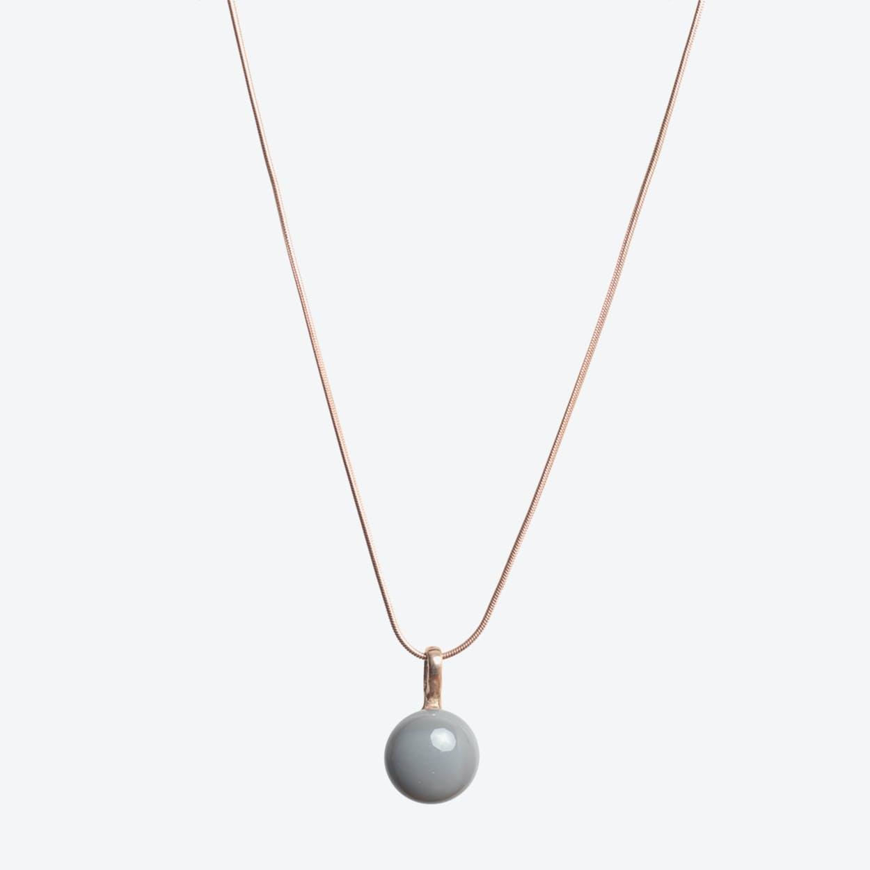 Drop Necklace in Elephant Grey