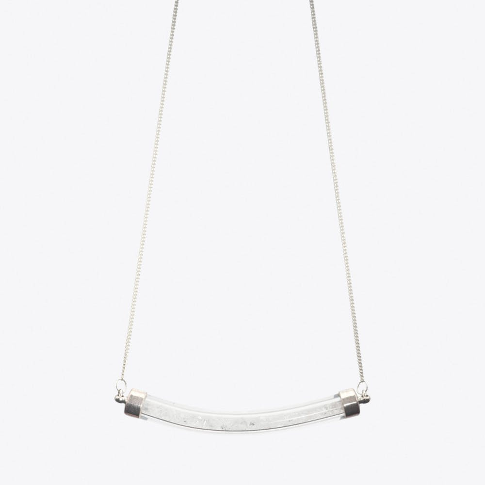 Crescent Necklace in Crystal Clear