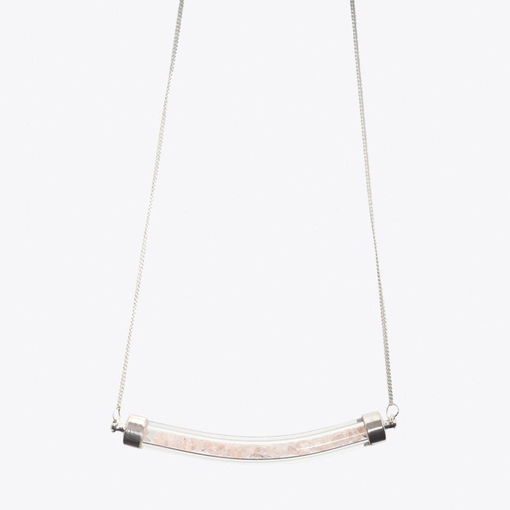 Crescent Necklace in Peach